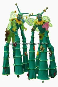 Nature Themed Stilt Walkers